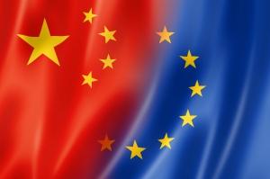 China and Europe flag